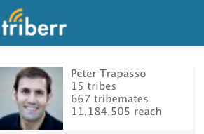 Triberr Peter Trapasso 11,000,000 Reach 11.12.12