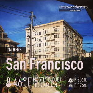 Instaweather Pro app photo posted to IG