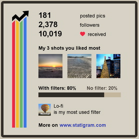 Statigram Web Viewer App Snapshots Instagram Activity