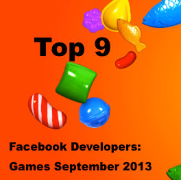 Top 9 Facebook developer list Games September 2013